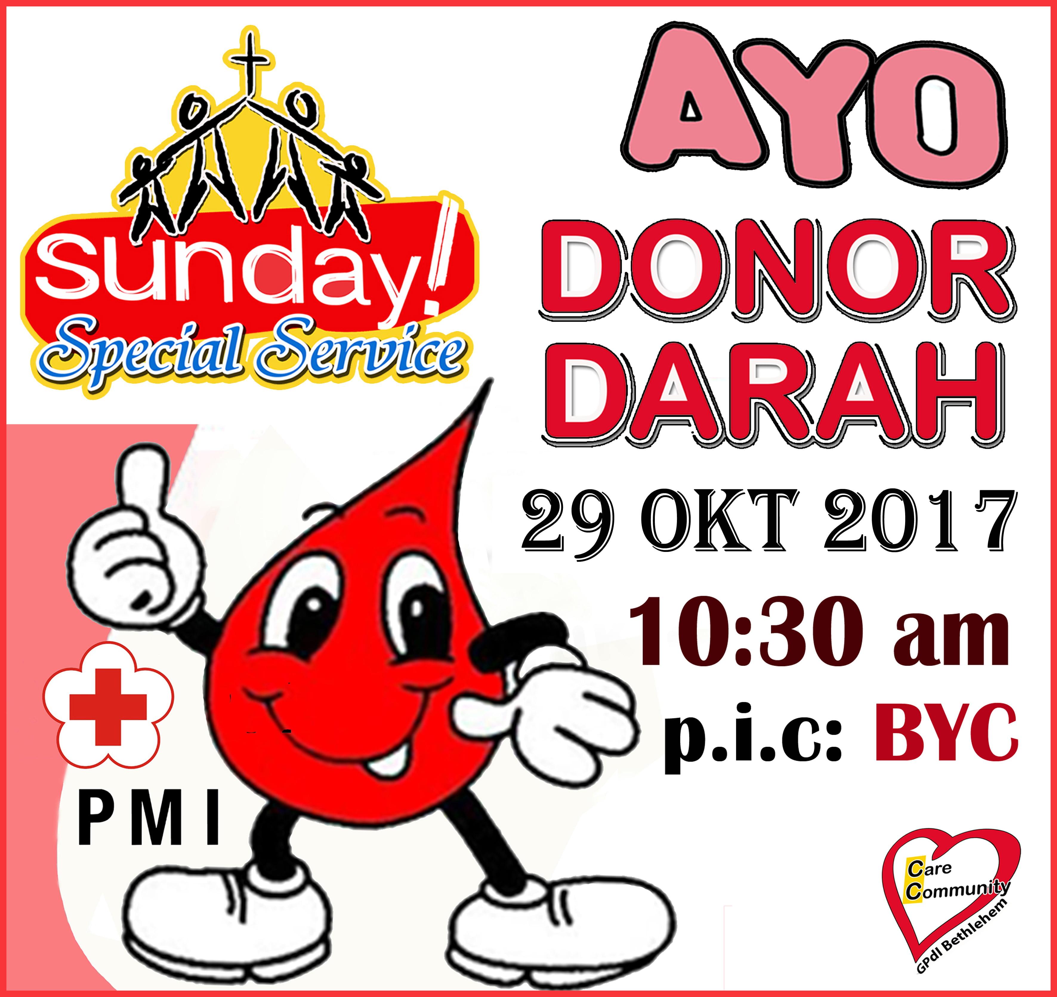 donor darah 29 okt 2017